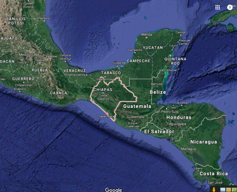 Chiapas, Mexico map
