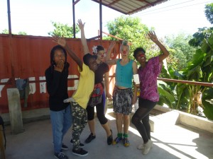 The team rehearses at Haiti Communitere